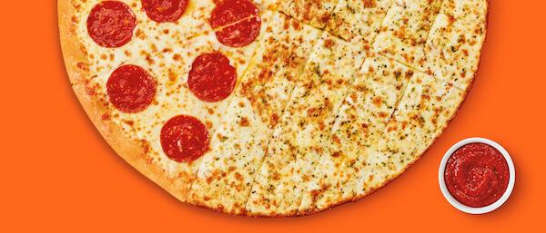 50/50 Cheesy Breadstick Pizza