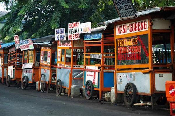 Indonesische warungs in jakarta
